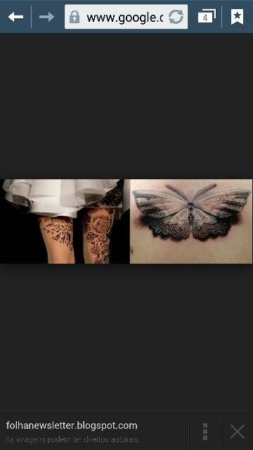 Tatuagem de renda