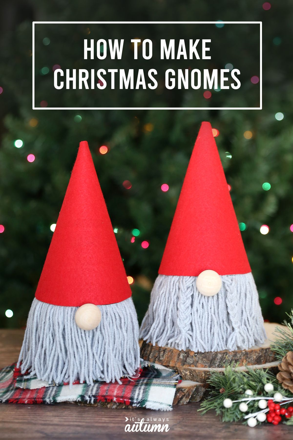 How To Make An Adorable Christmas Gnome From A Tp Roll Easy Christmas Crafts Christmas Gnome Christmas Diy