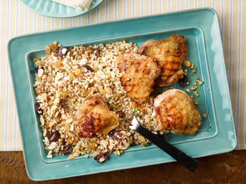 Grilled Chicken Thighs With Israeli Couscous Salad Recipe In 2018