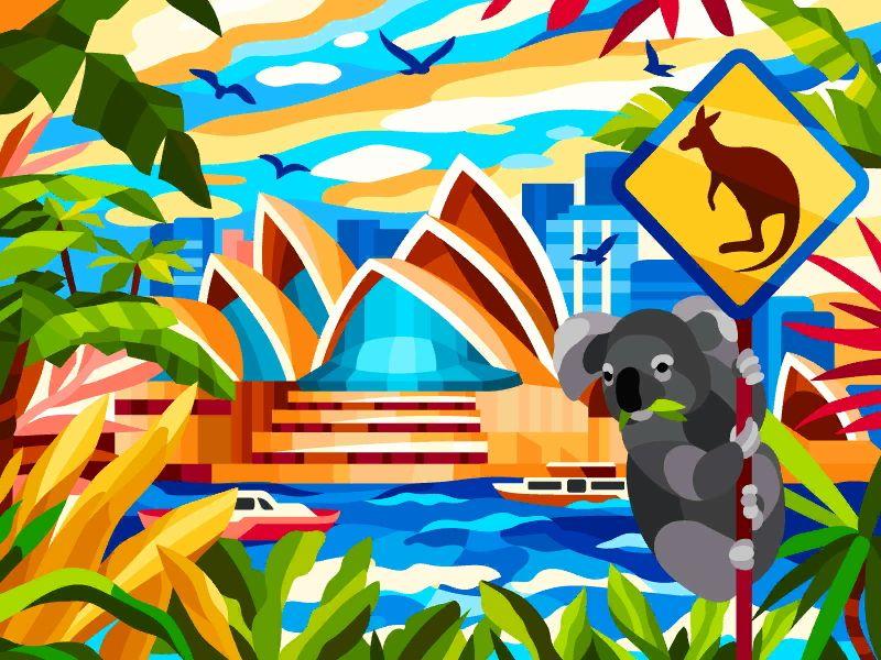 Opera Awaits Colorful Art Digital Art Girl Illustration Design