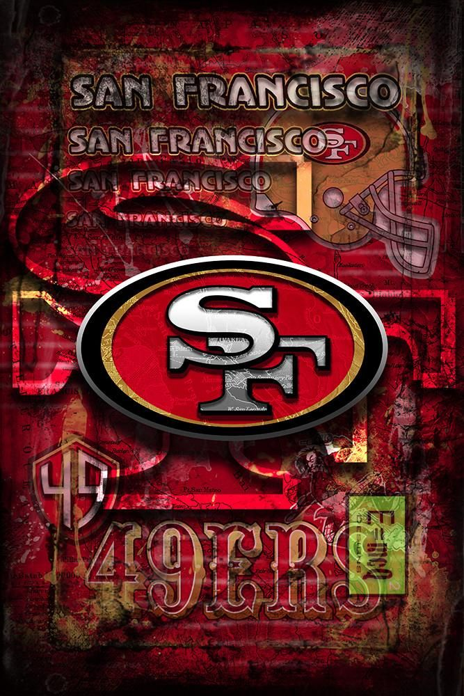 San Fransisco 49ers Football Poster San Francisco Forty Niners Gift 49ers Man Cave Art Forty