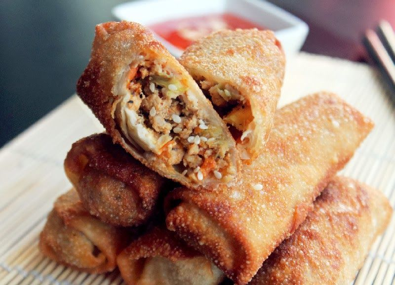 Chicken Egg Rolls and a KitchenAid Giveaway Sesame Chicken Egg RollsSesame Chicken Egg Rolls
