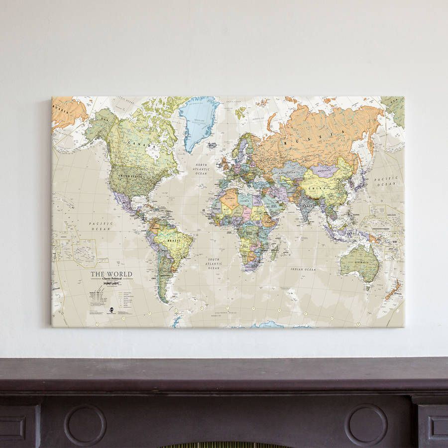 Canvas classic map of the world daybed room pinterest daybed canvas classic map of the world gumiabroncs Image collections