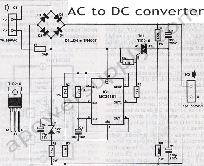 Ac to dc converter diagram dc power supply pinterest diagram this ac to dc converter circuit is capable of converting an alternative voltage within range into a dc voltage within to dc range so asfbconference2016 Gallery