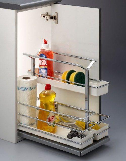 Ordenar el armario bajo fregadero varias soluciones - Cestas para armarios ...