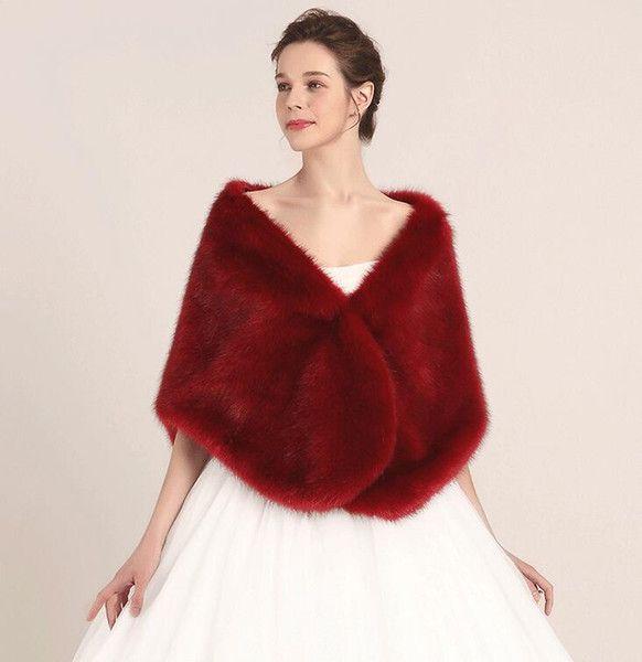 Cape Stole Bridal Faux Wrap Fur Bolero Shrug 2019 Princess Shawl OYnx4