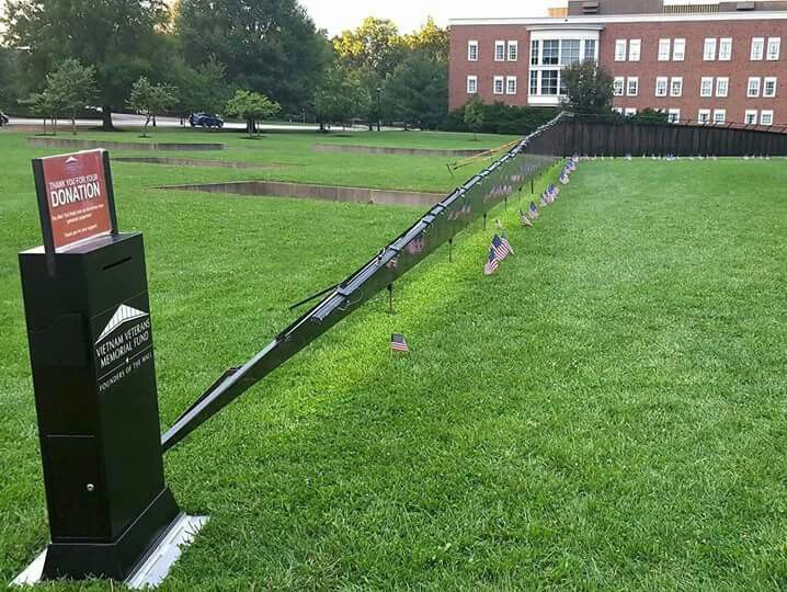 A Half Scale Replica Of The Vietnam Veterans Memorial (designed By Athens  Native Maya