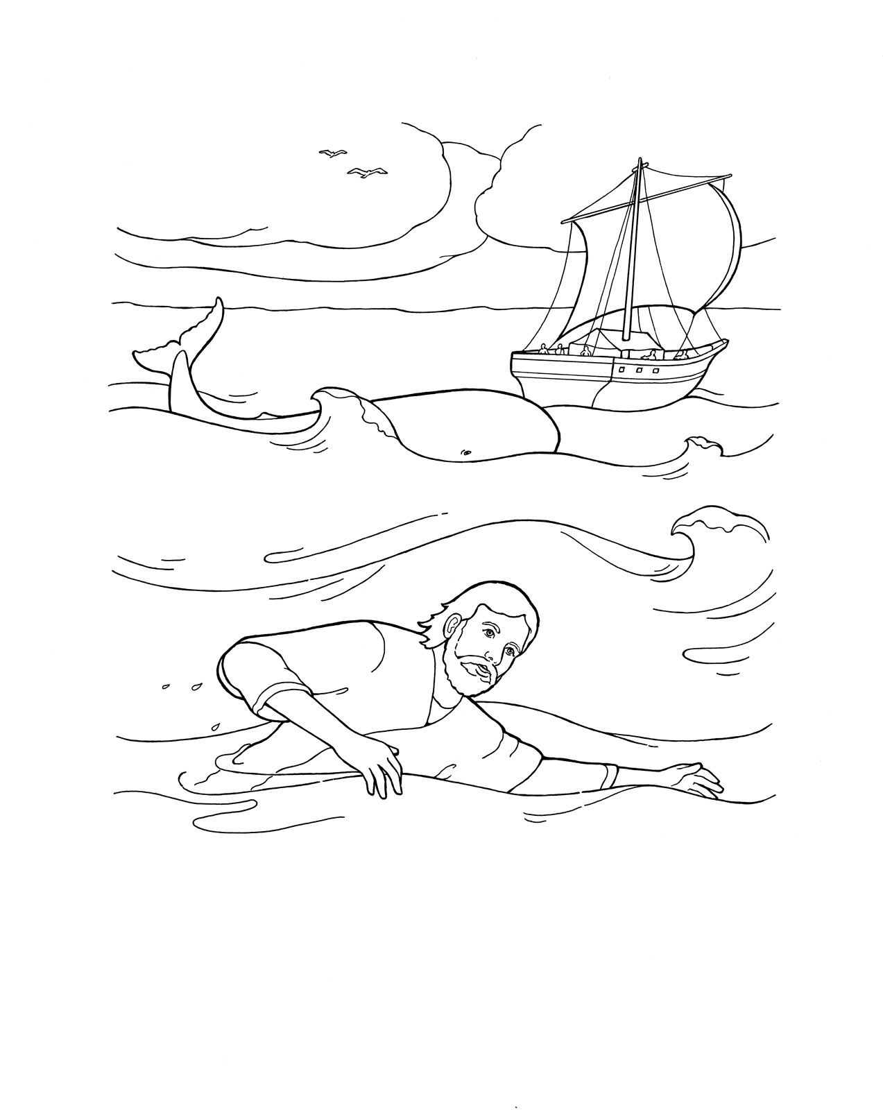 Jonah and the Whale coloring page. #bible #ldsprimary http://www.lds ...