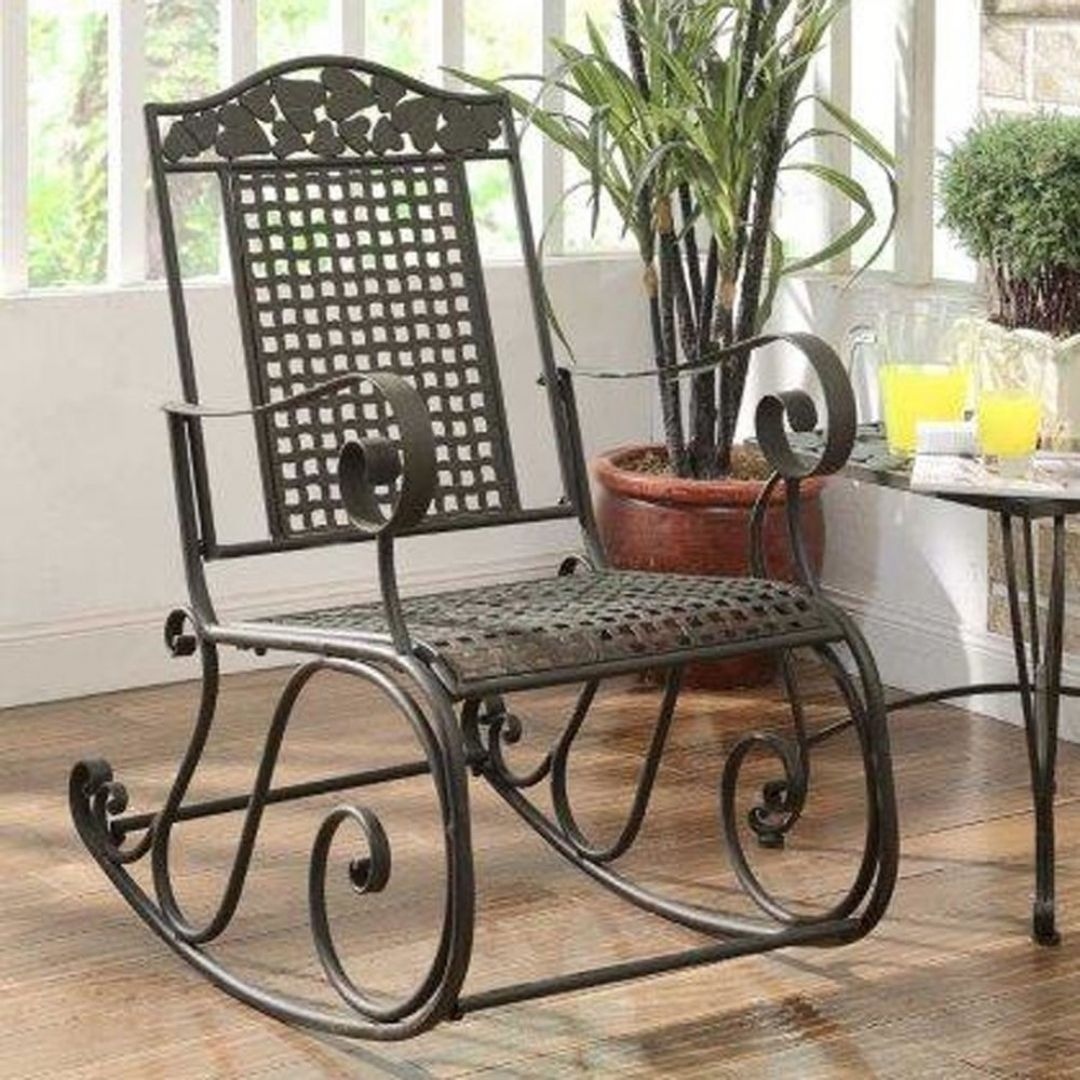Cool Metal Outdoor Rocking Chairs Furniture For Home Decoration Consept From Metal Outdoor Rocking Chair Metal Rocking Chair Patio Rocking Chairs Rocking Chair