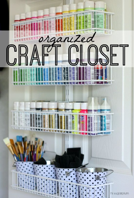 Superior {Organized} A Crafty Closet