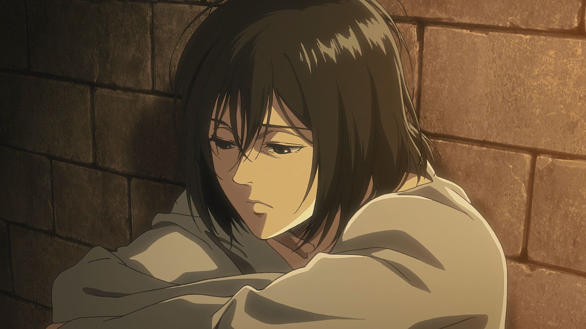 Mikasa refuses to believe the curse Attack on titan