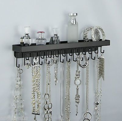 Wall Necklace Holder Jewelry Organizer Perfume Tray Closet