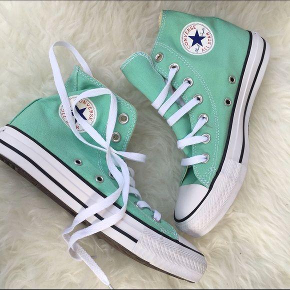 Converse sz 6 aqua mint green sneakers