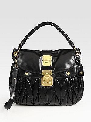 6e878f2841 Miu Miu Shoulder Bag - Black  Womens  Fashion  Luxury  Bags