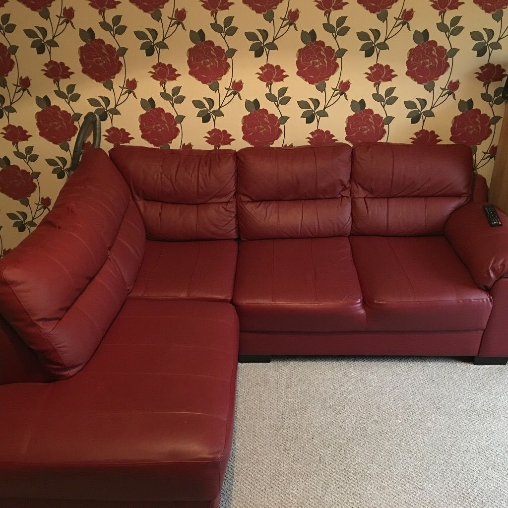 6 Seater Corner Sofa Chesterfield Red Leather Saskia Corner Sofa Chesterfield Derbyshire