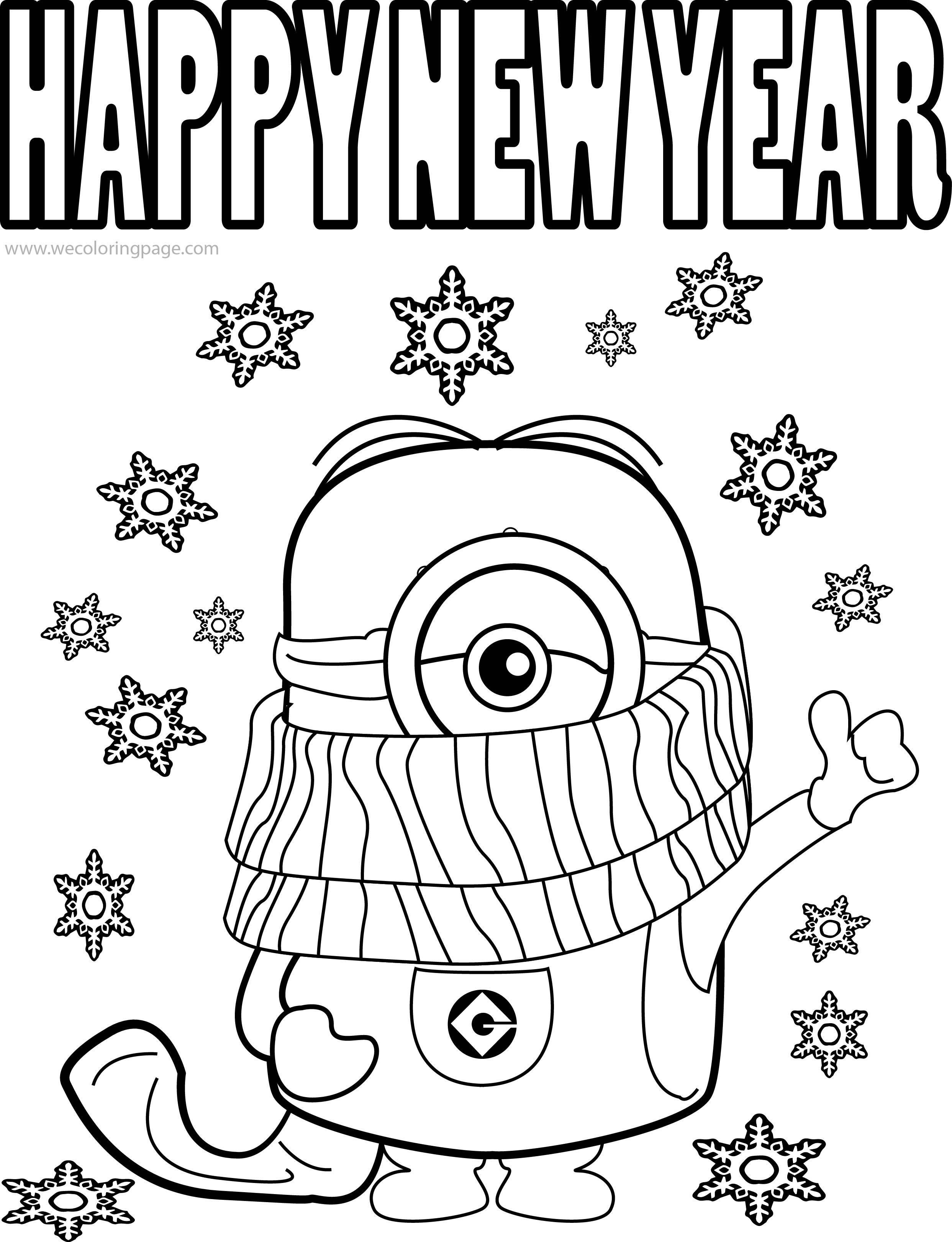 Best Funny Minions Quotes And Picture Cold Weather Happy New Year Coloring Page New Year Coloring Pages Rudolph Coloring Pages New Year S Eve Colors