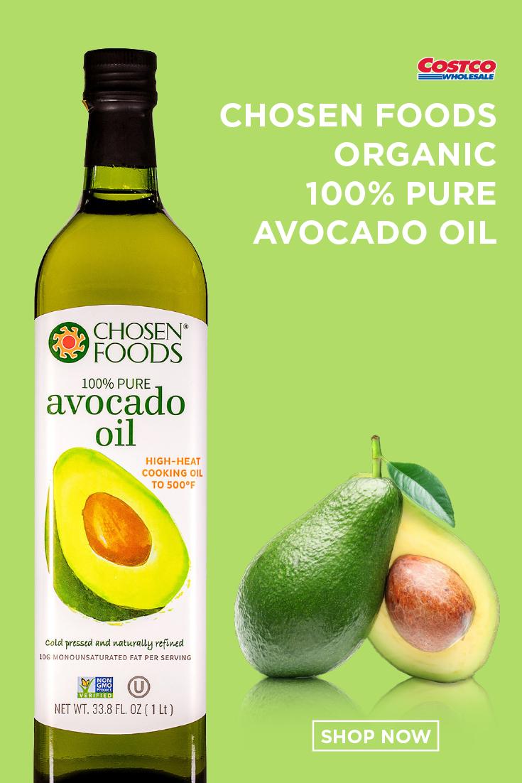 Chosen Foods 100 Pure Avocado Oil 33 8 Fl Oz Chosen Foods Food High Heat Cooking Oil