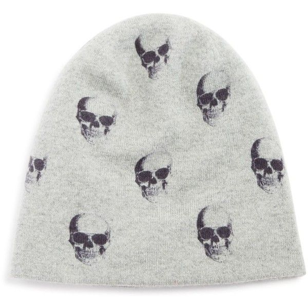 360cashmere Skull Cashmere Beanie ( 120) ❤ liked on Polyvore featuring  accessories c382726147c