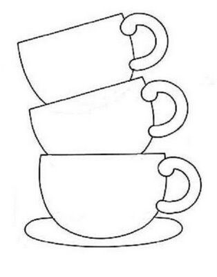 Tea cups PATTERNS / TEMPLATES Pinterest Tea cup, Embroidery