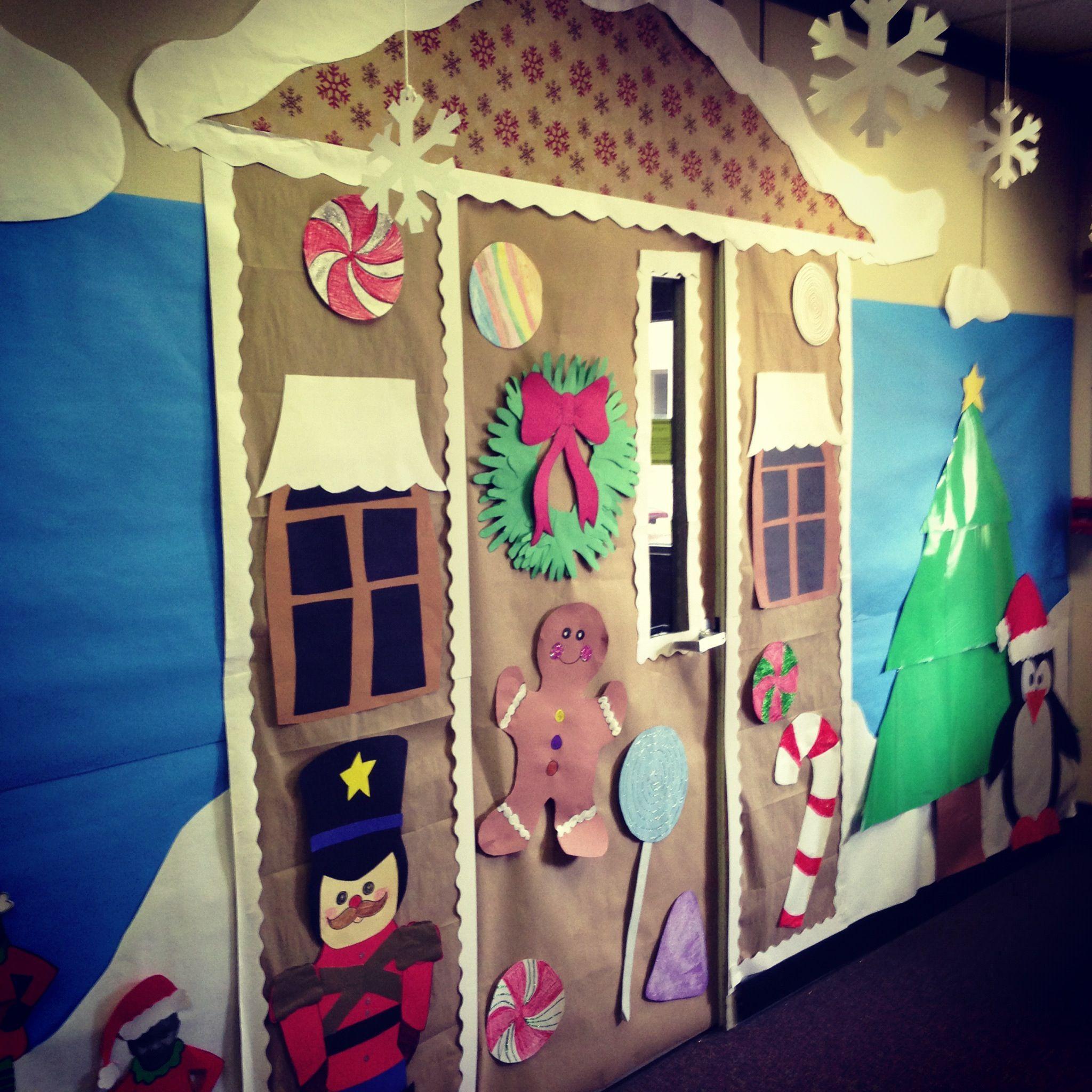School Office Decor Christmas Gingerbread House Door: Kindergarten Door Decoration Ideas Beautiful Home Design