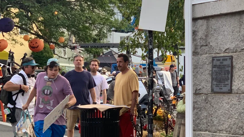 Photos Halloween Arrived Early On The North Shore Thanks To Adam Sandler S Hubie Halloween Filming Halloween Themed Movies Halloween Film Photo