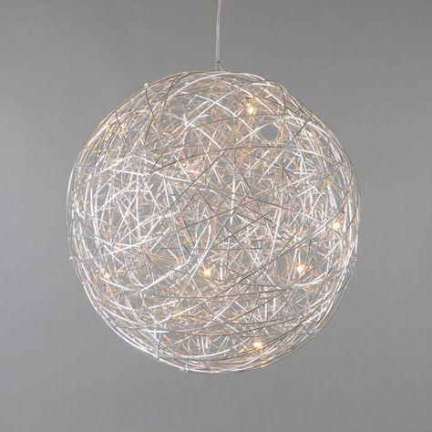 pendelleuchte draht kugel 60cm aluminium wohnung pinterest kugel. Black Bedroom Furniture Sets. Home Design Ideas