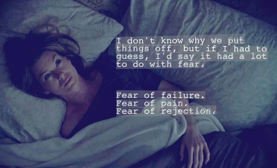Fear... Grey\'s anatomy quote | quotes and sayings | Pinterest ...