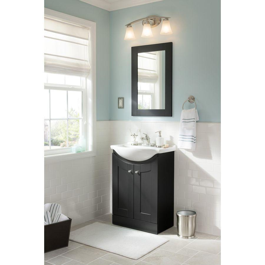Shop Portfolio 3 Light Lyndsay Brushed Nickel Bathroom Vanity