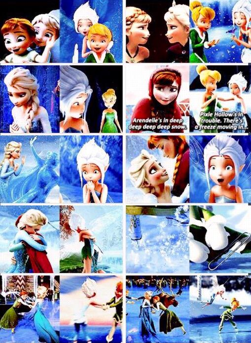 Elsa And Anna Tinkerbell Periwinkle Parallels