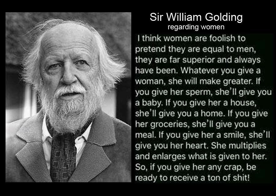 Twitter | William golding, Woman quotes, Quotes