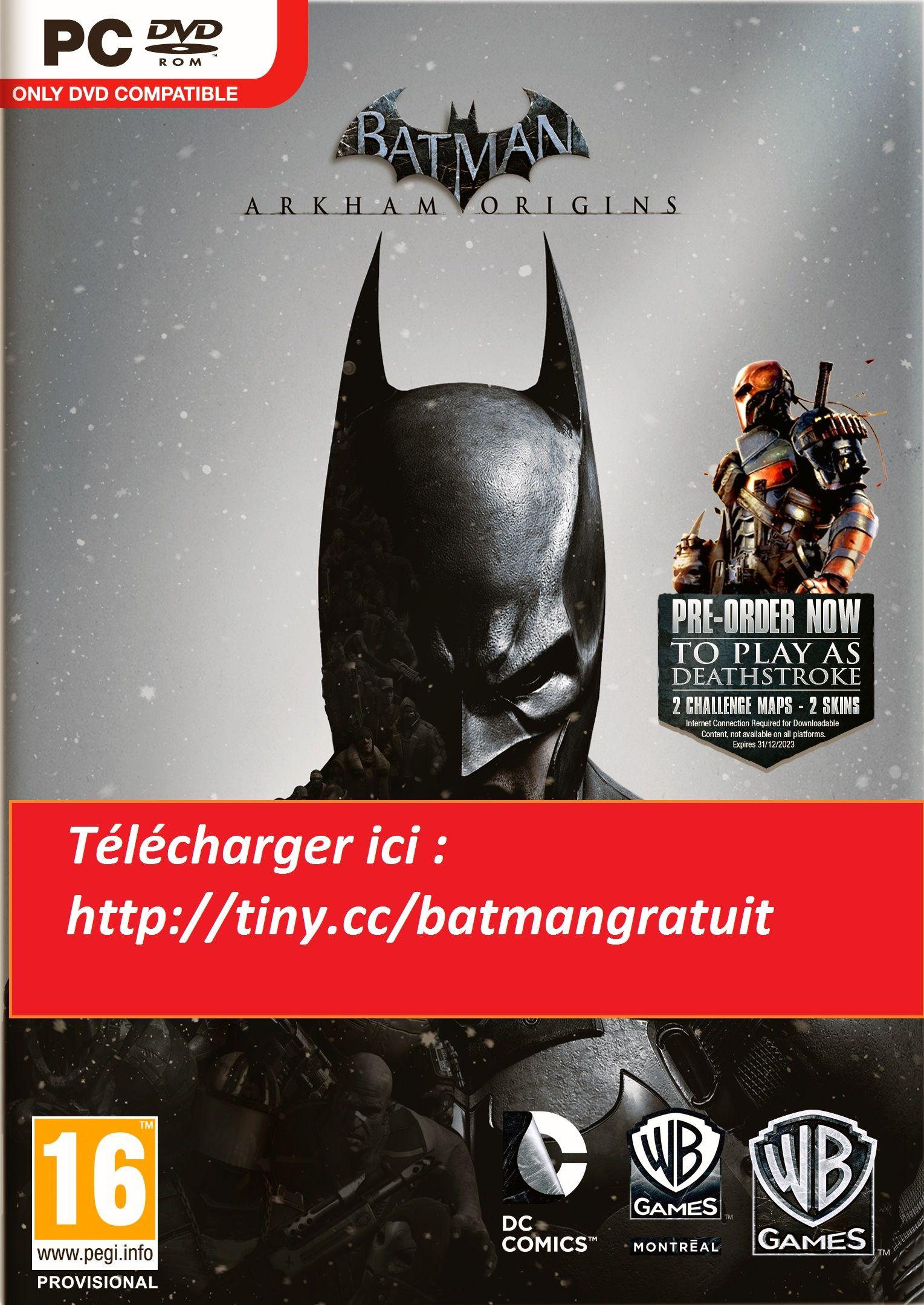 tlcharger batman arkham origins gratuit complet pc ps3 et xbox 360 - Batman Gratuit