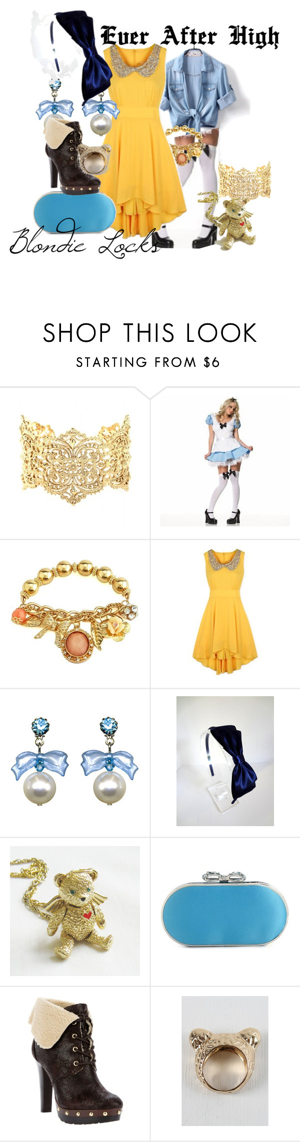 """Ever After High - Blondie Locks"" by sgeorgas ❤ liked on Polyvore featuring IaM by Ileana Makri, Leg Avenue, Charlotte Russe, Tarina Tarantino, Lulu Townsend and MICHAEL Michael Kors"