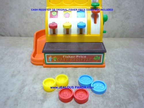 d8533435c712 6 Custom Fisher Price Replacement Coins Cash Register compatible 926 ...