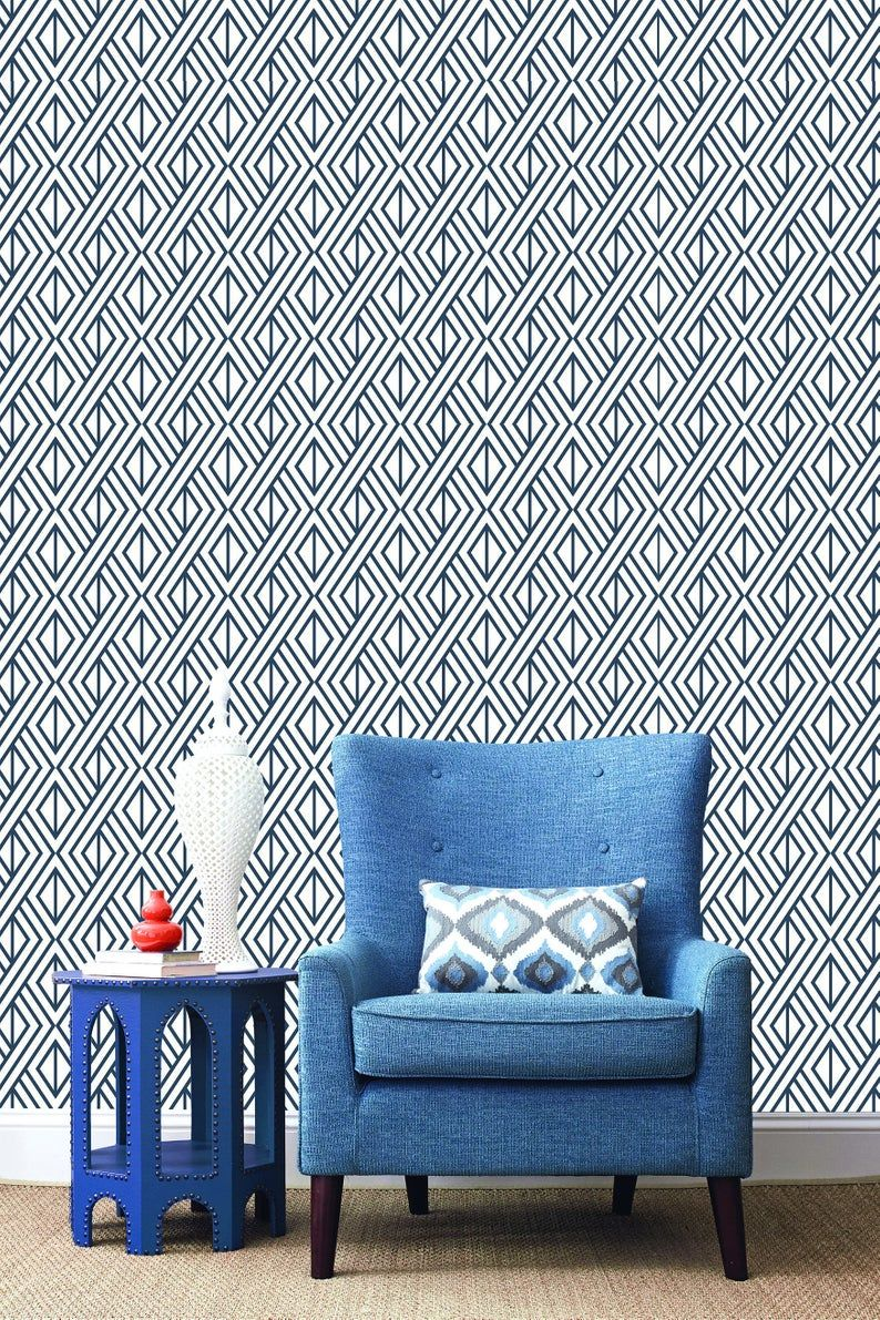Wallpaper Peel And Stick Removable Wallpaper Self Adhesive Etsy Peel And Stick Wallpaper Removable Wallpaper Geometric Wallpaper Peel And Stick