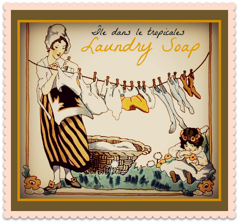 Vintage Laundry Art Beauteous My New Tropical Island Soap Label Cleanup Review