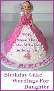 Birthday Cake Wordings Daughter Birthday Cake Messages In 2019