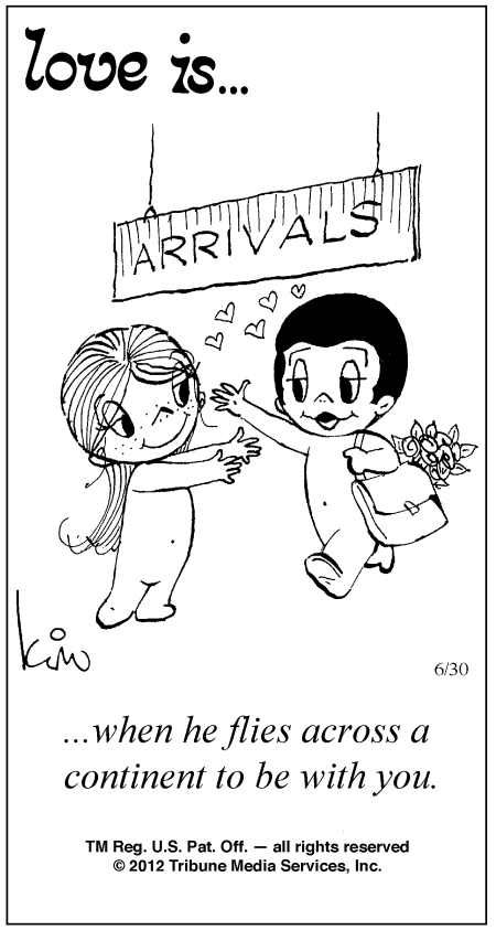 Love Is Cartoons by Kim Casali | Love Is ... Comic Strip by Kim Casali (June 30, 2012)