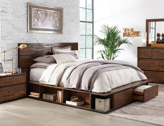 Brisbane queen storage bed art van furniture furniture for Bedroom furniture brisbane