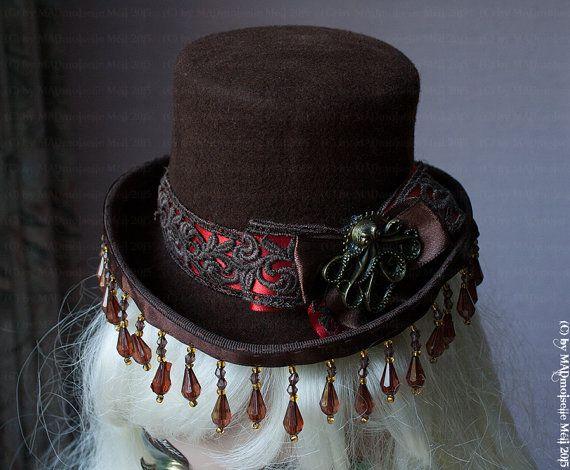 Unikat Ooak Oktopus Mini Zylinder Hut Für Die Neoviktorianische Lady