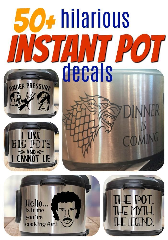 Why did i never think to add a decal to my instant pot before id love to dress her up a little i am going to have a hard time choosing between