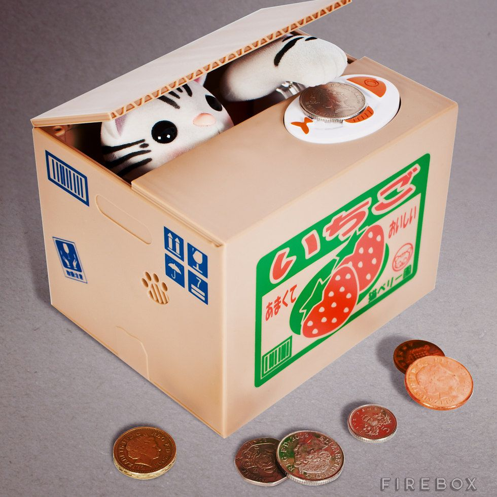 Kitty Coin Bank Firebox Unusual Gifts Money Box Gifts