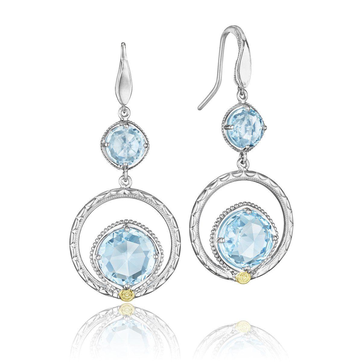 3dfe8f6646d8fb Silver Sky Blue Topaz Earrings 12.95cts - SE14902– Renee Taylor Gallery