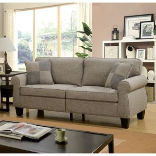 Furniture Of America Herena Transitional Linen Like Sofa Ping The