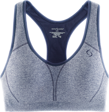 The smooth, seamless Brooks JustRight Racer sports bra