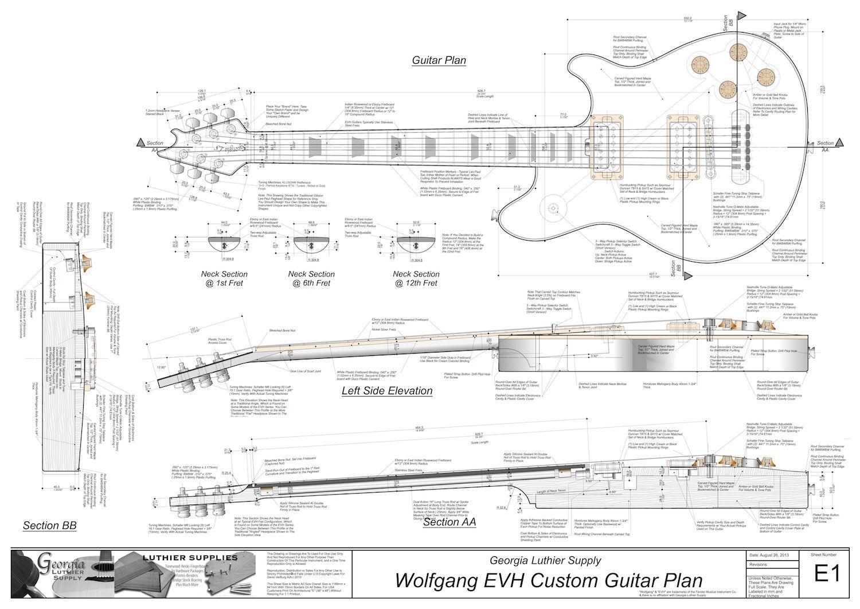 small resolution of guitar building building plans building ideas van halen eddie van halen