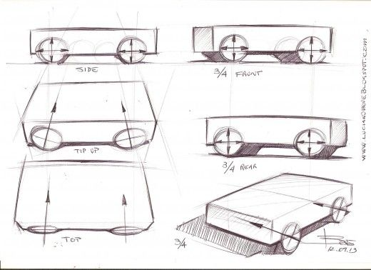 Car Sketch Tutorials by Luciano Bove | Sketches tutorial, Car ...