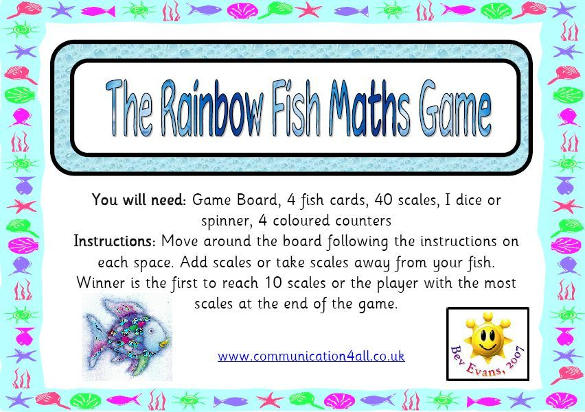 The Rainbow Fish Maths Game Encourage The Use Of Addition