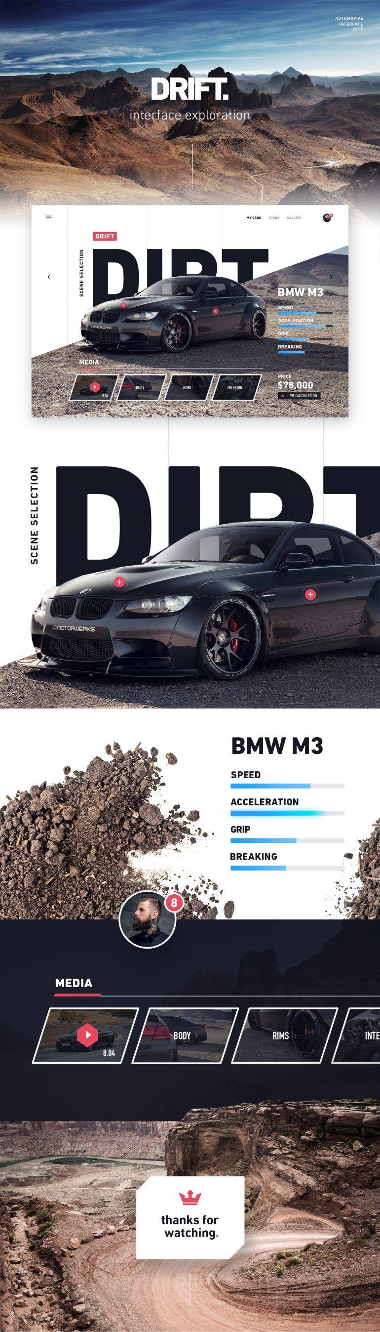 Car Concept Website Web Layout Design Website Design Web Design Inspiration