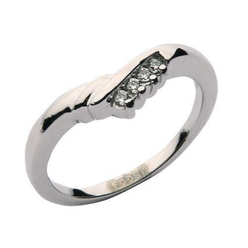 Cobalt Engagement RIng 4 Stone set Wedding ring