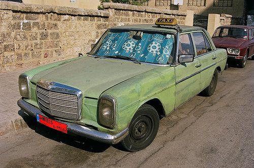 Old Mercedes Taxi Beirut Lebanon